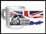 Koolart CLASSIC BRITISH Design For Retro Mk4 Ford Escort RS Turbo RST - Ceramic Tea Or Coffee Mug